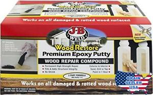 J b Weld 40007 Wood Restore Premium Epoxy Putty Kit 64 Oz New Free Shipping