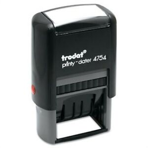 Trodat Economy 5 in 1 Stamp Dater Self inking 1 5 8 X 1 Blue red 2 Pack
