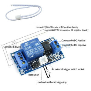 1pcs 12v 1 Channel Latching Relay Module With Touch Bistable Switch Mcu Control