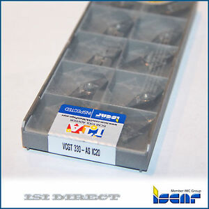 Vcgt 160402 As Ic20 Iscar 10 Inserts Factory Pack