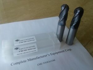 2pcs 3 4 x1 1 2x4 Solid Carbide Ball End Mills Tialn Coated 4 Flt 1006 btn 34
