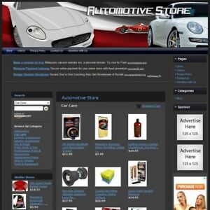 Automotive Specialties Store Your Own Ecommerce Website Free Domain hosting