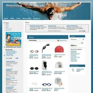 Established Affiliate Swimming Store Business Website For Sale Free Domain Name