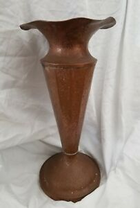Rare Antique Jos Heinrichs Pure Copper Large Arts And Crafts Hammered Vase Ed21