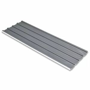 Vidaxl 12x Roof Panel Galvanized Steel Gray 50 8 x17 7 Garage Garden Shed