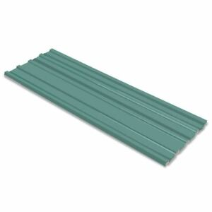 Vidaxl 12x Roof Panel Galvanized Steel Green 50 8 x17 7 Garage Garden Shed