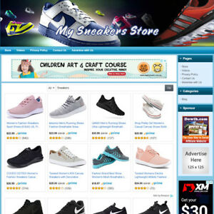 Sneakers Sport Shoes Store Online Business Website For Sale Free Domain Name
