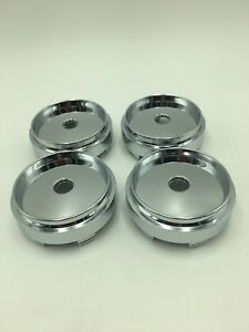 4pcs 66mm Chrome Wheel Hubs Center Hub Cap Universal Wheel Rim Hub Cover Caps