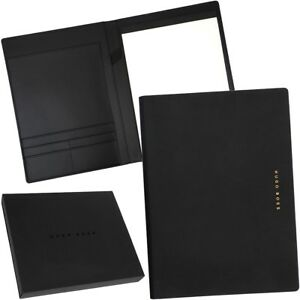 Hugo Boss A4 Writing Set Briefcase Portfolio Document Set Folder New