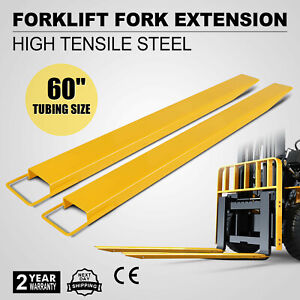 60 x 5 8 Forklift Pallet Fork Extensions Pair Lifts Trucks