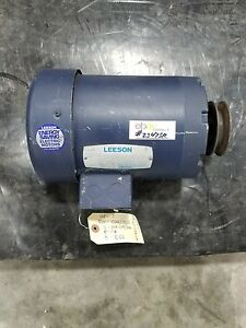 Leeson 1 Hp Electric Motor C6t17fb2b With V belt Pulley 2347sr