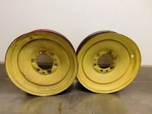 John Deere Unstyled A G Tractor 16 Inch Solid Dish Front Rims 12571
