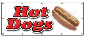 Hot Dog 1 Banner Sign Hot Dogs Cart Chicago Wiener Franks Chili Signs