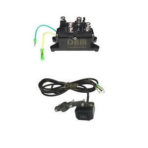 Waterproof 12v Atv Utv Solenoid Relay Contactor Winch Rocker Thumb Switch Combo