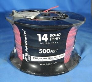 Southwire 500 ft 14 awg Stranded Red Copper Thhn Wire by the roll