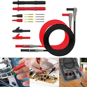 12 In 1 Multimeter Test Lead Kit Probe Alligator Clips For Fluke Meter Power New