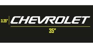 Chevrolet Chevy Logo Windshield Banner Vinyl Decal Sticker 35 X 3 25 White
