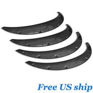 4pcs Universal Fender Flares Abs Overfenders Wide Body Set 2 75 Carbon Fiber