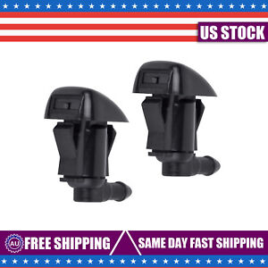 2pcs Windshield Washer Water Nozzle Spray Fit For 2008 2012 Chevrolet Malibu New