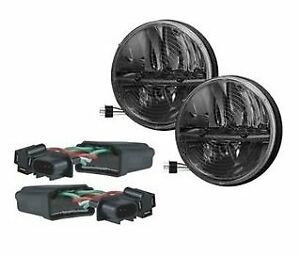 Truck Lite 27275c Jeep Jk Kit 7 Round Led Heated Headlight Pair