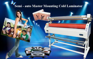 Us Stock Ving 63 Master Mounting Cold Laminator Semi auto Wide Format 110v
