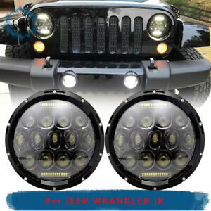 Fit 1990 1997 Mazda Miata Mx5 7 inch Full Halo Drl Led Headlights Front H6024