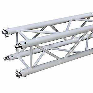 Global Truss Sq 4114 wht 9 84ft White Powder Coated Square Trussing Section