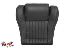 93 95 Pontiac Firebird Convertible driver Side Bottom Leather Seat Cover Dk Gray