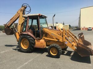 Case 590 Turbo Diesel 4x4 Construction King Backhoe Enclosed Rops We Ship