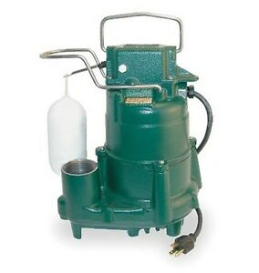 Zoeller Sump Pump 1 2 Hp 115 Volts Model M98