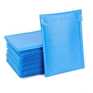 250 0 6x10 Blue Poly Bubble Padded Envelopes Mailers Shipping Case 6 x10