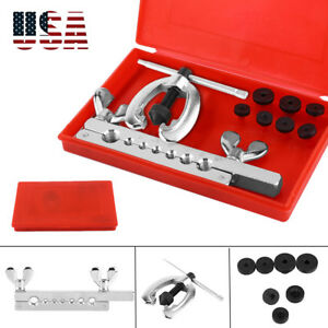 Professional Flaring Tool Kit 7 Dies Double Single Flare Tube Brake Line W Case