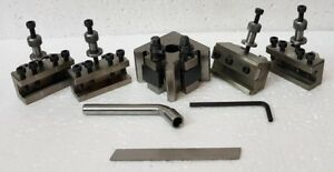 Quick Change Tool Post Set T 37 With 2 Standard 1 V Holder 1 Parting Holders