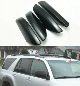 4pcs Roof Rack Rail End Cover Shell Cap Fit For Toyota 4runner N210 2003 2009