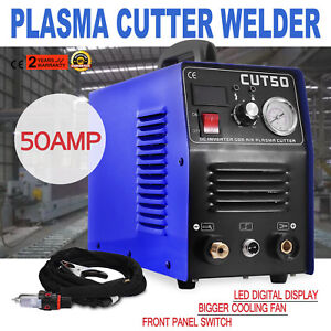 110v Plasma Cutters 50a Tig Welder Cut50 Inverter Digital Welding Machine
