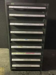 Vidmar 9 Drawer Tools Parts Cabinet