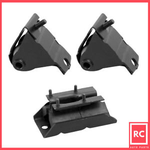 Motor Trans Mount 3pcs Set For 1987 1999 Jeep Cherokee Comanche wagoneer 4 0l