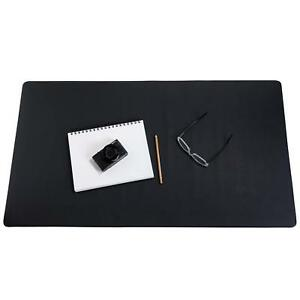 Zbrands Leather Smooth Desk Mat Pad Blotter Protector Midnight Black Laptop