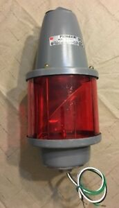 27s Series B2 Federal Signal Corp Red Rotating Strobe Light 120 Volt 60 Hz