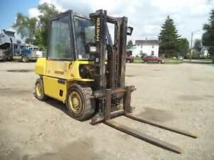 Hyster H80xl 2 8 000 8000 Pneumatic Tired Forklift Diesel Side Shift
