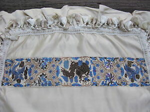 Antique Chinese Robe Sleeve Band Hand Embroidered Silk Dragon And Phoenix Pillow