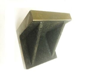 Brand New Solid Webbed Caste Iron Angle Plate 4 X 4 X 4 Inches precise Ground