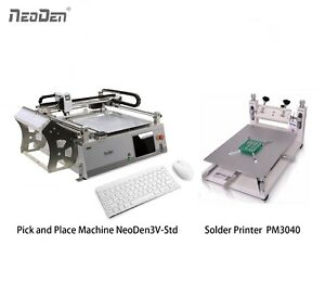 Save 200 Smt Pick And Place Machine With 2 Cameras 23 Feeders solder Printer