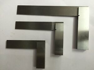 Set Of 3 Pcs Precision Try Squares 3 4 6 For Machinist Hobbysits