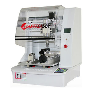 Small Size Four Axes Relief Cnc Router With Flat Lettering Cylinder Engraving
