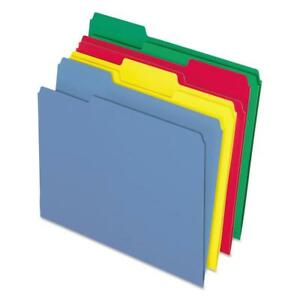 Pendaflex Cutless Color File Folders Blue Red Yellow Green 100 Box