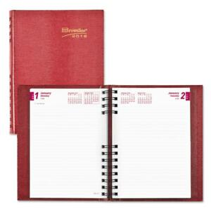 Brownline Coilpro Daily Planner Ruled 1 Day page 8 1 4 X 5 3 4 Red 2018