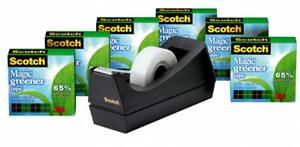 Scotch Magic Invisible Greener Tape 6 Pack With Dispenser Clear 3 4 In X