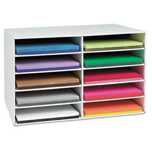 Classroom Keepers Construction Paper Storage White 12 X 18