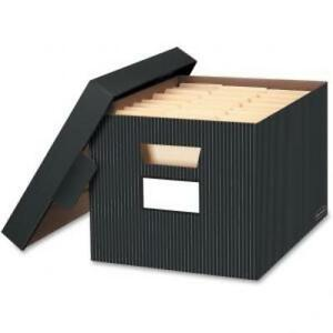 Bankers Box Stor file Decorative Storage Box Letter legal Black grey 4 count